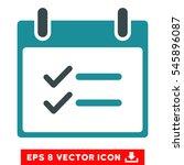 check items calendar day icon....