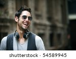 young attractive man in urban... | Shutterstock . vector #54589945