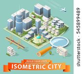 build your own isometric city.... | Shutterstock .eps vector #545899489