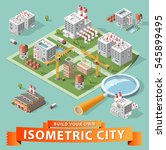 build your own isometric city.... | Shutterstock .eps vector #545899495