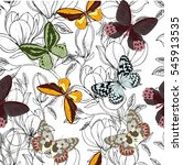 beautiful seamless pattern with ... | Shutterstock .eps vector #545913535