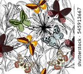 beautiful seamless pattern with ... | Shutterstock .eps vector #545913667