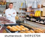 young cheerful  shop boy in... | Shutterstock . vector #545915704
