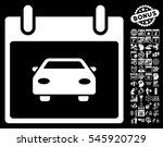 car calendar day pictograph... | Shutterstock . vector #545920729