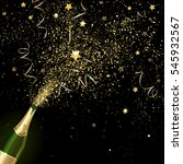congratulatory champagne with... | Shutterstock .eps vector #545932567