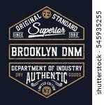 vintage denim typography  t... | Shutterstock .eps vector #545935255