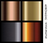 metallic backgrounds collection.... | Shutterstock .eps vector #545942809