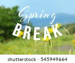 text spring break on nature... | Shutterstock . vector #545949664