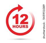 twelve hour icon | Shutterstock .eps vector #545951089