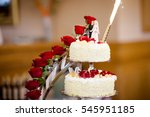 beautiful wedding cake detail   ...   Shutterstock . vector #545951185