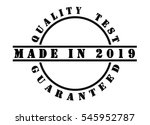 made in 2019   written in black ... | Shutterstock . vector #545952787