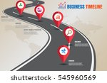 design template  road map... | Shutterstock .eps vector #545960569