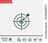 pictograph of target | Shutterstock .eps vector #545968957