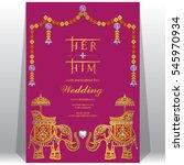 indian wedding invitation card... | Shutterstock .eps vector #545970934