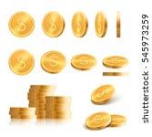 gold coins | Shutterstock .eps vector #545973259
