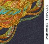 braid hair vector pattern on... | Shutterstock .eps vector #545979271