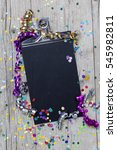 carnival confetti on wood... | Shutterstock . vector #545982811