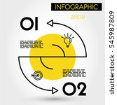 yellow double arc infographic... | Shutterstock .eps vector #545987809