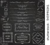vintage calligraphic design... | Shutterstock .eps vector #545990341