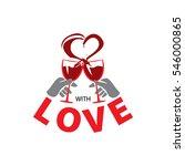 with love  glass  logo  heart ... | Shutterstock .eps vector #546000865