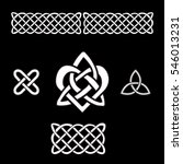 celtic heart and trinity knots. ... | Shutterstock .eps vector #546013231