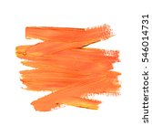 brush stroke. acrylic paint... | Shutterstock .eps vector #546014731