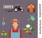 farmer profession design with... | Shutterstock .eps vector #546034939