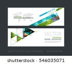 vector set of modern horizontal ... | Shutterstock .eps vector #546035071
