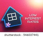 low interest rate written on... | Shutterstock . vector #546037441