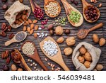 Various Legumes And Different...