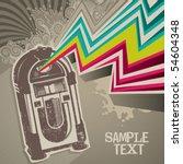 designed retro banner with... | Shutterstock .eps vector #54604348