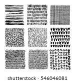 set of hand drawn textures with ... | Shutterstock .eps vector #546046081
