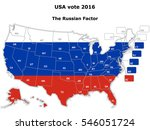 the usa vote in the 2016... | Shutterstock .eps vector #546051724