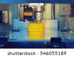 3d printer printing objects... | Shutterstock . vector #546055189