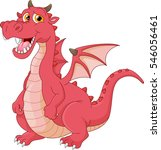 funny dragon cartoon  | Shutterstock .eps vector #546056461