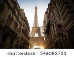eiffel tower between parisian... | Shutterstock . vector #546083731