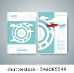 vector design of magazine cover ... | Shutterstock .eps vector #546085549