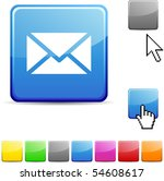 mail glossy vibrant web icon.