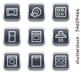 home appliances web icons  grey ... | Shutterstock .eps vector #54609466