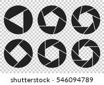 circular geometric logos.... | Shutterstock .eps vector #546094789