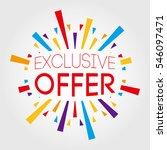 exclusive offer. poster  banner ... | Shutterstock .eps vector #546097471