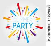 summer party. vector... | Shutterstock .eps vector #546098899