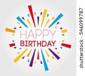 happy birthday. vector... | Shutterstock .eps vector #546099787
