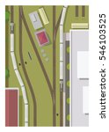 railway station  top view | Shutterstock .eps vector #546103525
