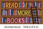 illustration of a bookshelf... | Shutterstock .eps vector #546115111
