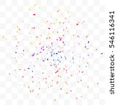 colorful confetti falling on... | Shutterstock .eps vector #546116341