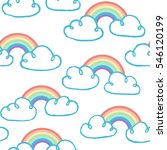 seamless pattern with clouds... | Shutterstock .eps vector #546120199