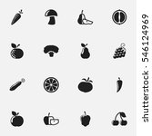 set of 16 editable food and... | Shutterstock . vector #546124969