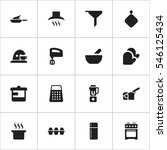 set of 16 editable meal icons.... | Shutterstock . vector #546125434