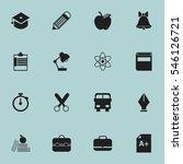 set of 16 editable education... | Shutterstock .eps vector #546126721